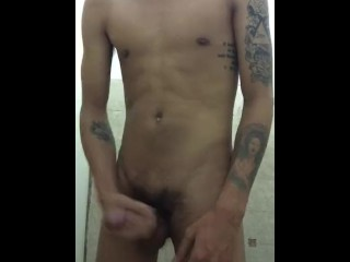 Asian twink jacking off