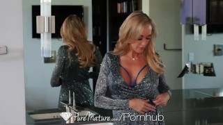 PureMature Mature busty Brandi Love rides hard porn watching cock Pov big