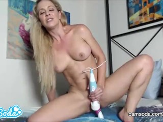 Cherie DeVille big tits blonde MILF fucking with multiple toys.