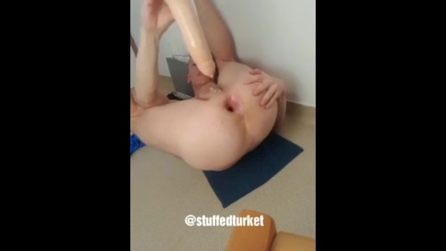 Big cock gay male sex Gay french twink dildo at the gaping asshole