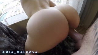 Preview 5 of Mia Malkova bouncing her perfect ass on a big dick before getting creampie