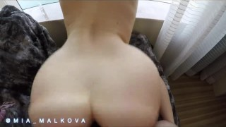 Preview 6 of Mia Malkova bouncing her perfect ass on a big dick before getting creampie