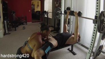 workout turns into hot fucking with sexy ebony milf | premium full HD