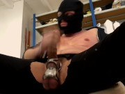 VERBAL PIG POPPER BATOR - BALLSTRETCHED HOODED PERVERT IN MAN CAVE 2018
