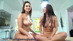 AllGirlMassage Ashley Adams & Serena Blair BTS!