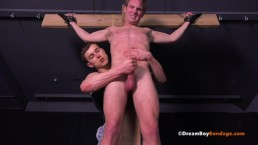 Gay Muscle Bondage BDSM Crucifixion Whipping Hung Dream Boy Sucks Cock