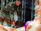 Stepmom Christy Love Gives Her Marine Stepson A Warm Welcome