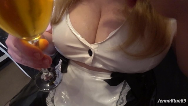 Big Butt Wife in PVC Waitress Outfit - Ass Play, Ass to Mouth, Creampie
