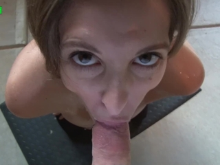 Cum covered girlfriend takes final load on smoking hot body