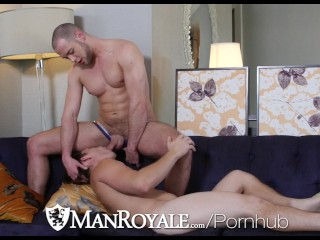 ManRoyale Morning couch fuck with Brendan Phillips & Paul Canon