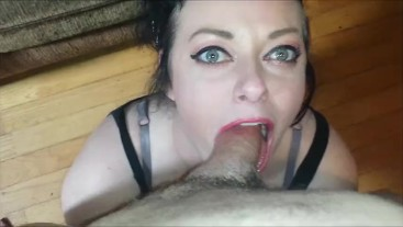 HOT GREEN EYED WIFE GIVES THE BEST HEAD FULL! POV MILF DEEPTHROAT BIG DICK