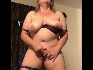 Naughty Raven Masturbating While Standing