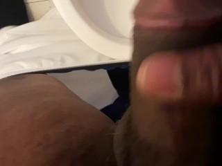 Jerking black dick