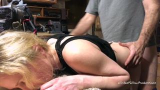 Little her ass fucked filled painal for gets bunny and with being bad cum her sub