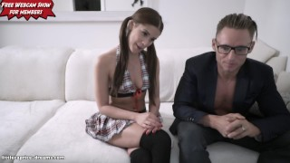 School Girl get never enough - Little Caprice - LIVE FUCK porno