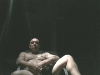 Getting naked outdoors at night & having a smoke.