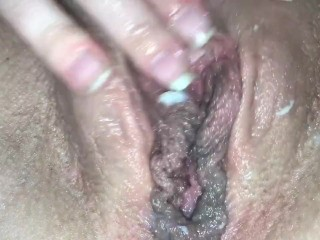 Dirty Milf Creamed Close Up