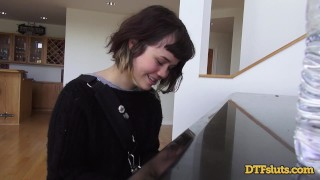 YHIVI SHOWS OFF PIANO SKILLS FOLLOWED BY ROUGH SEX AND CUM OVER HER FACE  doggy style oral blowjob cumshot small tits young brunette petite rough deepthroat teenager dtfsluts cum in mouth