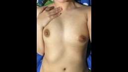 Tiny Latina Teen Playing With Herself