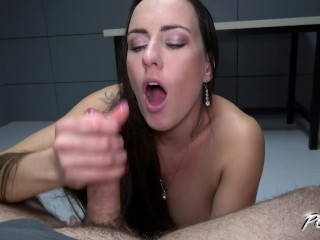 Cum pearl necklace girl