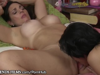 MILF Mindi Mink Makes Sure Teen Lesbian Won't Tell Mom!