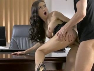 babes russian babe sasha rose rides a hard dick in the office