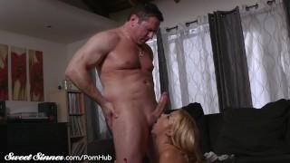 Big Tits MILF Alexis Fawx Sucks Balls & Gets Drilled Tits sucking