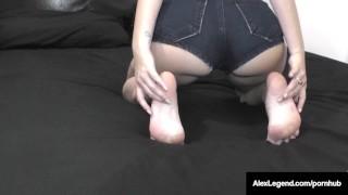 Frenchie Alex Legend Bangs UK Ava Dalush & Cums On Her Feet!