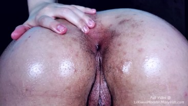 All oiled up and Dirty! BBW bouncing ass with Slow motion!