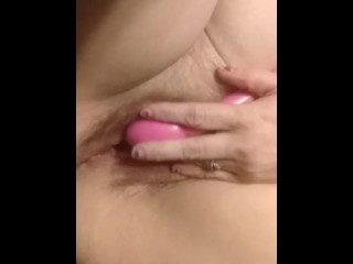 Pinching my nipples and fucking my ginger snatch