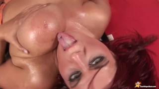 incredible oiled big boob tit fuck