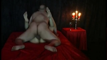 Gothic Girl Nadine Cays fucks hard with an old man who creampy deep inside