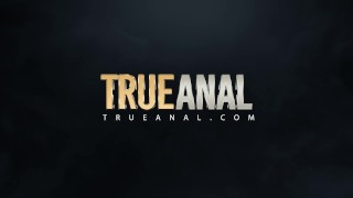 TRUEANAL Adriana and Megan anal and squirt fun! Eating dick