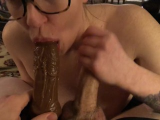 Adult stars snapchat double blowjob from hot blonde slut masturbate adult toys big cock slop