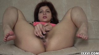 Vaginal orgasm from sex toy and fingers