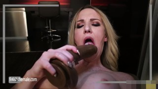 Sweet Blonde Kayleigh Jerks her Hard Dick and Fucks herself
