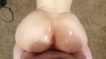 POV big white ass twerking on your dick cum volcano