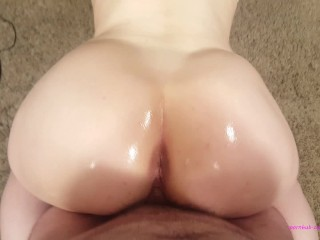S M Anal Tube POV big white ass twerking on your dick cum volcano