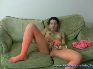 One Hot JOI! Petite Cute Whore Kinky Gaga In Pantyhose Gives JOI Countdown!