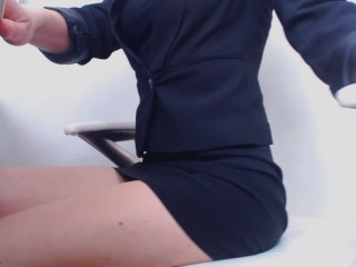 Masturbate at work :Day 90 : close up .masturbate under table