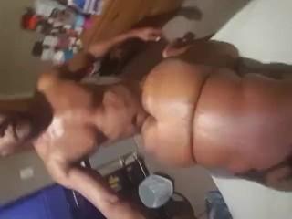BBW birthday selfie stick fuck Part 1