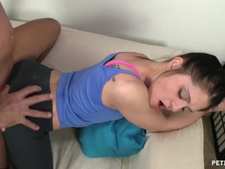 Stephanie Swift First Anal Petite18 Fuck Me Step-Dad Rip My Yoga Pants, Big Dick Brunette Hardcore
