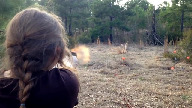 Cute Girl Chloe Glock 42 Run and Gun Shooting.380acp Pistol
