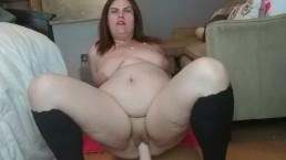 Horny BBW Rides Reverse Cowgirl