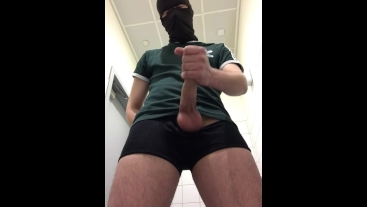 Beating off at the Airport before the Flight **HUGE CUMSHOT**