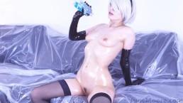 Nier Automata - 2B si masturba - Cosplay hentai porno