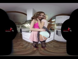 StockingsVR – Upskirt dream girls Antonia Sainz and Nathaly Cherie