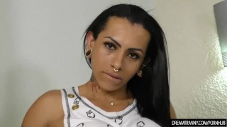 Tranny Peels Off Her Clothes and Fucks a Dudes Ass Point hardcore