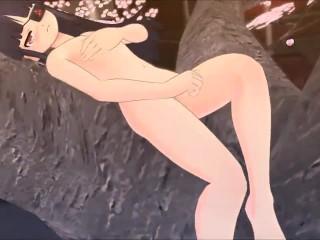 Senran Kagura - Mirai sexy dress break scene