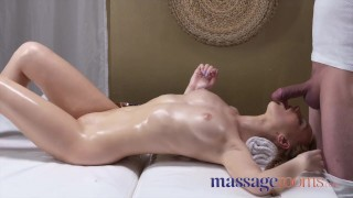 Massage Rooms Petite tight young Russian worships the cock that fills her